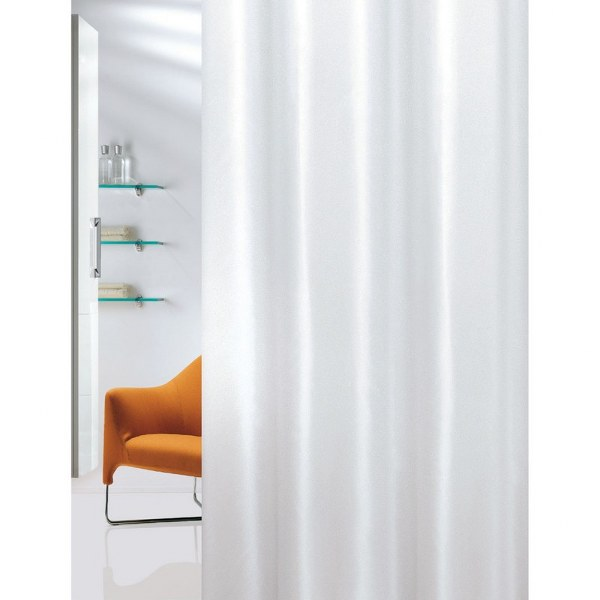 Κουρτίνα Μπάνιου Υφασμάτινη Plain White Joy Bath - Joy Bath Accessories - plain- μπανιο κουρτίνες μπάνιου