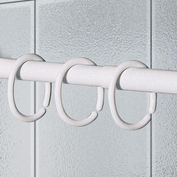 Κρίκοι Κουρτίνας Μπάνιου Σετ 12τμχ Λευκοί Joy Bath – Joy Bath Accessories – 007-00001