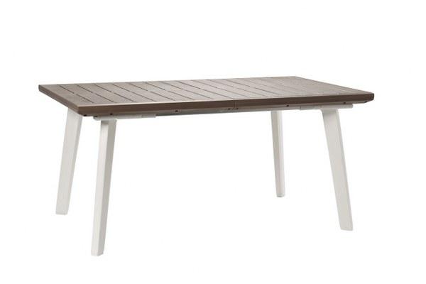 Τραπέζι Επεκτεινόμενο Εξωτερικού Χώρου Harmony-Ext White/Cappuccino – keter – harmony-ext-table-white/cappuccino