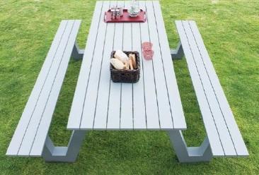 Πάγκος-Τραπέζι Αλουμινίου Jerry - OEM - 13-jerry κηποσ   βεραντα τραπέζια κήπου