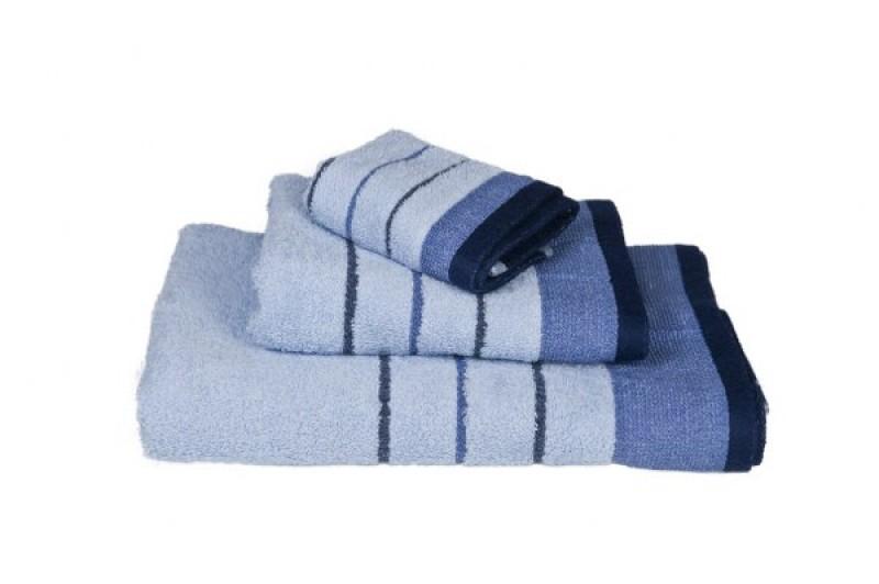 Σετ 3 τμχ Πετσέτες Ριγέ Μπλε – OEM – blue-petsetes
