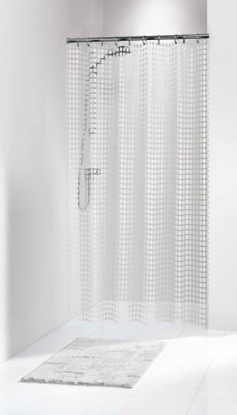 """Κουρτίνα Πλαστική """"Tiles White"""" (180×200εκ.) (Υλικό: Πλαστικό) – sealskin – 202591310"""