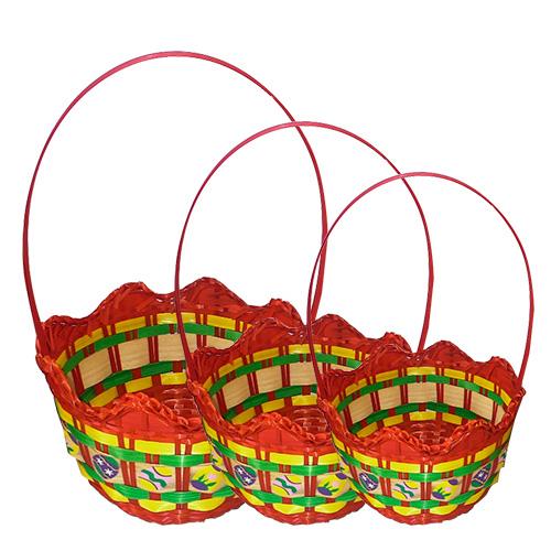 """Σετ 3τμχ Καλάθι Πασχαλινό """"Αυγό"""" - OEM - 73.1238 πασχαλινα πασχαλινά"""