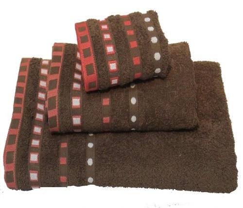 Πετσέτες Σετ 3τμχ Πεννιέ Ζακάρ – OEM – brown-zakar