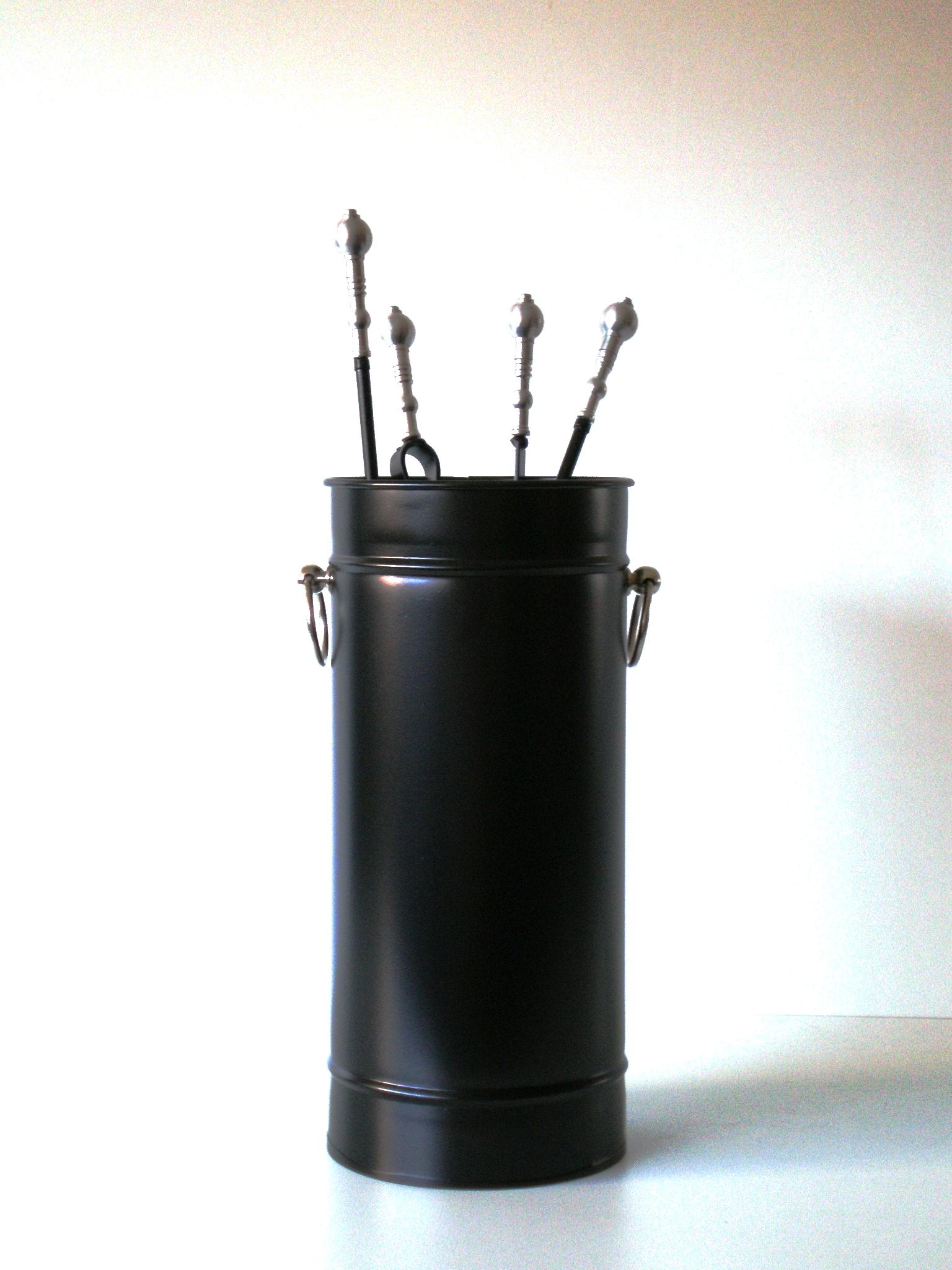 """Κρεμανταλάς Κουβαδάκι """"Μαύρο Μπίλια Inox"""" - Β - 3-115 ΜΑΥΡΟ ΜΠΙΛΙΑ INOX διακοσμηση σαλόνι είδη τζακιού"""