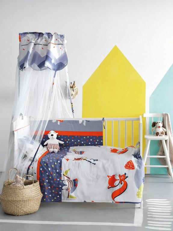 Σετ Κρεβατιού 6τμχ Bebe Palamaiki BS7018 - Palamaiki - bs7018-set λευκα ειδη παιδί προίκα μωρού
