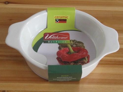 Κεραμικό Ταψί Στρογγυλό από υψηλής ποιότητας κεραμικό υλικό 25,5εκ. - VELTIHOME  κουζινα ταψιά   πυρέξ