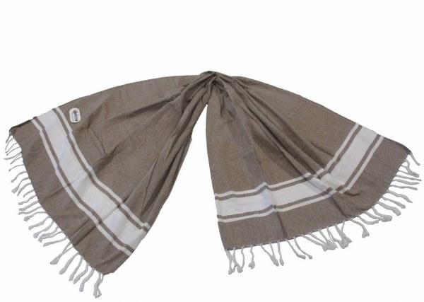 Πετσέτα Θαλάσσης – Παρεό 2 Όψεων – OEM – pareo-riga-brown