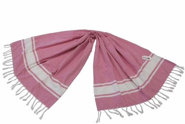 Πετσέτα Θαλάσσης – Παρεό 2 Όψεων – OEM – pareo-riga-pink
