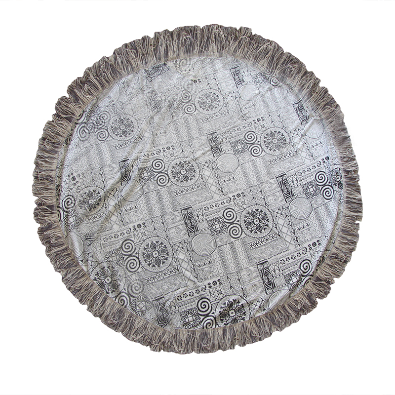 Πετσέτα Θαλάσσης Στρογγυλή Βαμβακερή Φ 170εκ. Με Κρόσια - OEM - strogili-1 λευκα ειδη θαλάσσης πετσέτες θαλάσσης