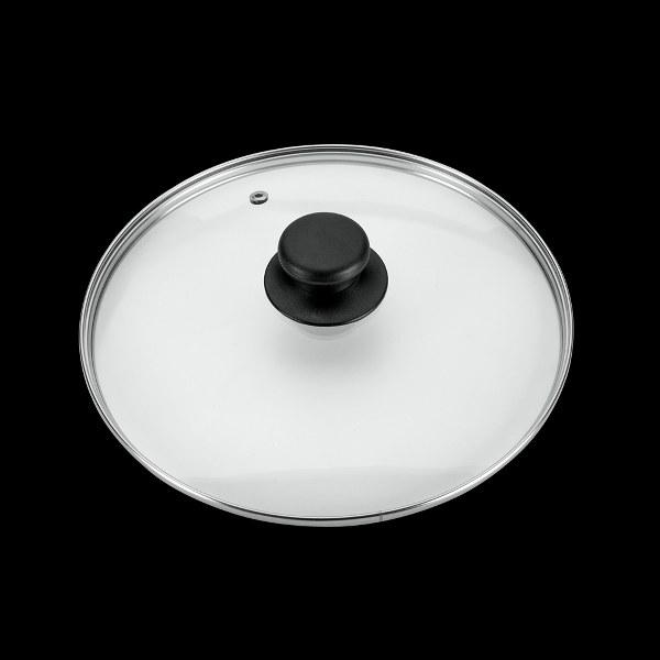 Καπάκι Γυάλινο με Λαβή από Βακελίτη 30εκ. - METALTEX - 16030 κουζινα τηγάνια