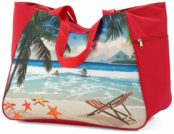 Τσάντα Θαλάσσης 48x26x37εκ. benzi 5001 Red - benzi - BZ-5001-red λευκα ειδη θαλάσσης τσάντες θαλάσσης
