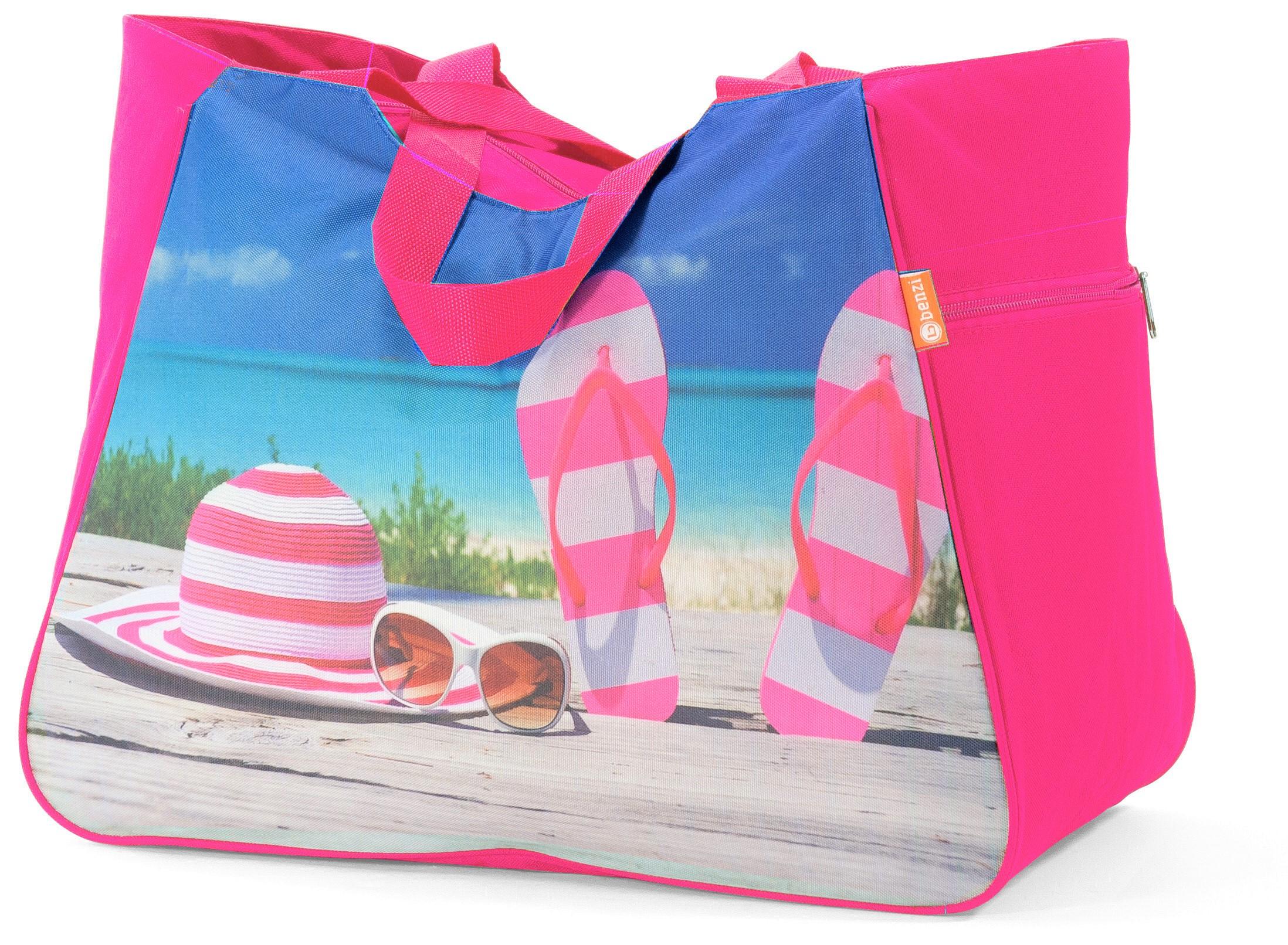 Τσάντα Θαλάσσης 48x26x37εκ. benzi 5002 Pink - benzi - BZ-5002-pink καλοκαιρινα  τσάντες θαλάσσης