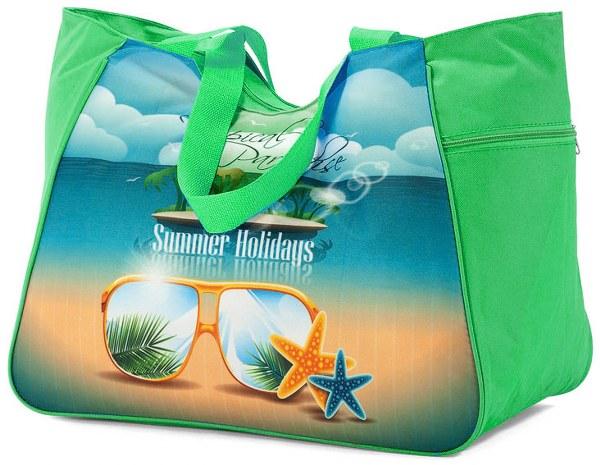 Τσάντα Θαλάσσης 48x26x37εκ. benzi 4862 Green - benzi - BZ-4862-green λευκα ειδη θαλάσσης τσάντες θαλάσσης