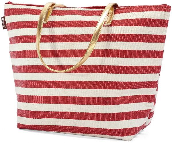 Τσάντα Θαλάσσης 43x14x31εκ. benzi 4809 Red - benzi - BZ-4809-red καλοκαιρινα τσάντες θαλάσσης