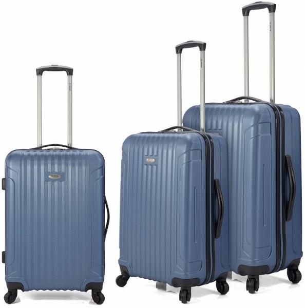 Σετ Βαλίτσες 3τμχ Τρόλευ με 4 Ρόδες benzi 4870 Blue - benzi - BZ-4870/3-blue καλοκαιρινα βαλίτσες   τσάντες ταξιδίου