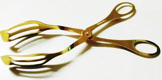 Λαβίδα Κέικ Ανοξείδωτη 18/0 Gold – HERDMAR – 8-02525