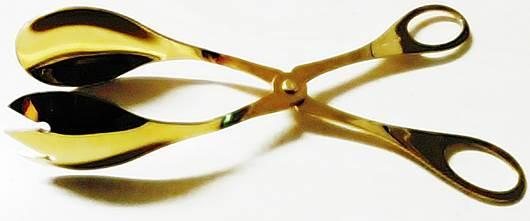 Λαβίδα Σαλάτας Ανοξείδωτη 18/0 Gold – HERDMAR – 8-02524