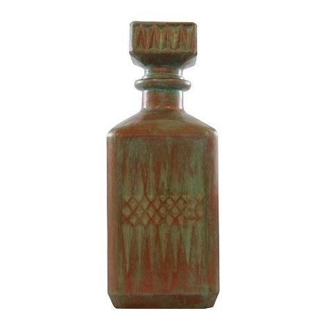 Διακοσμητικό Μπουκάλι Γυάλινο Αντικέ 8,5x23,5εκ. - OEM - mpoukali-keramidi-green διακοσμηση σαλόνι διακοσμητικά