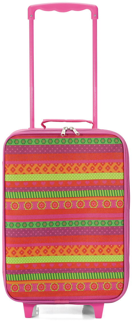 Παιδική Βαλίτσα Καμπίνας Ροζ Ριγέ με 2 Ρόδες benzi 4756 - benzi - BZ-4756-1 ειδη οικ  χρησησ βαλίτσες   τσάντες ταξιδίου