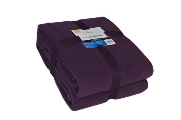 Κουβέρτα Υπέρδιπλη Fleece USA 240gr Mauve - OEM - kouverta-usa-mauve λευκα ειδη υπνοδωμάτιο κουβέρτες διπλές   υπέρδιπλες