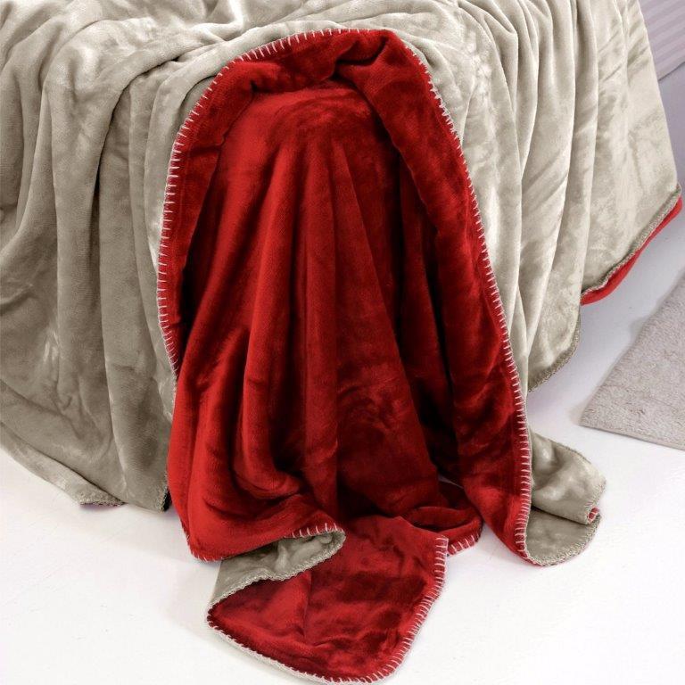 Κουβέρτα Μονή Fleece Abbracio Cherry Sb home – Sb home – abbracio-cherry