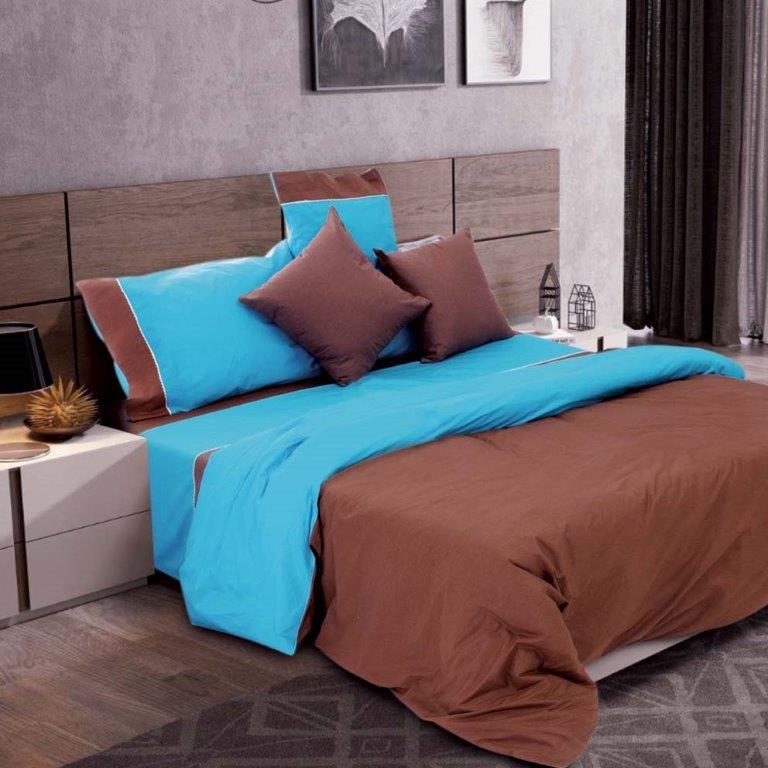Σετ Σεντόνια Μονά Simi Chocolate Sb home - Sb home - simi-sent1-chocolate λευκα ειδη υπνοδωμάτιο σεντόνια μονά   ημίδιπλα