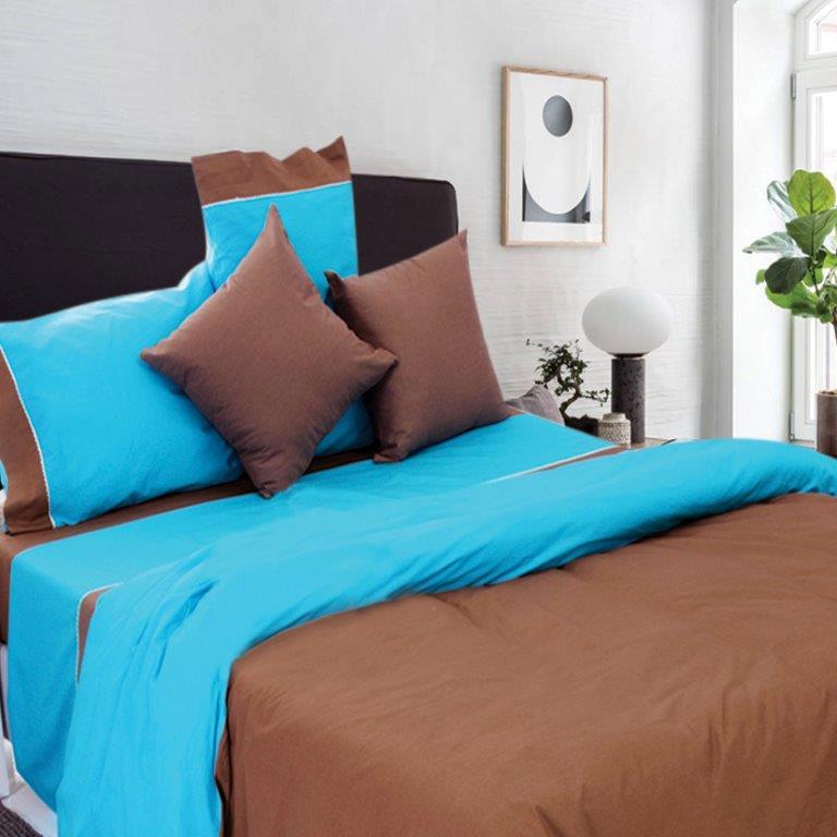 Παπλωματοθήκη Μονή Simi Chocolate Sb home - Sb home - simi-th1-chocolate λευκα ειδη υπνοδωμάτιο παπλωματοθήκες μονές   ημίδιπλες