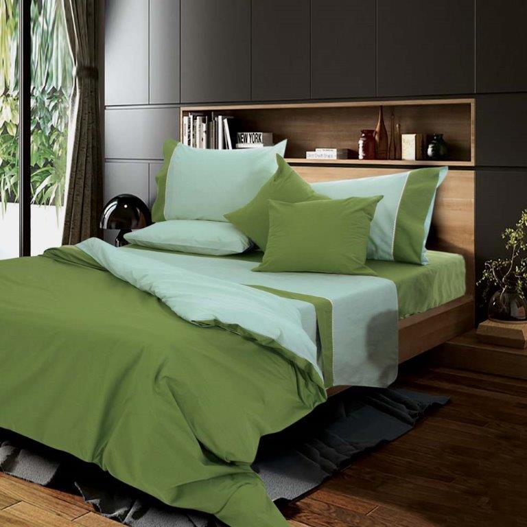 Παπλωματοθήκη Μονή Simi Olive Sb home - Sb home - simi-th1-olive λευκα ειδη υπνοδωμάτιο παπλωματοθήκες μονές   ημίδιπλες