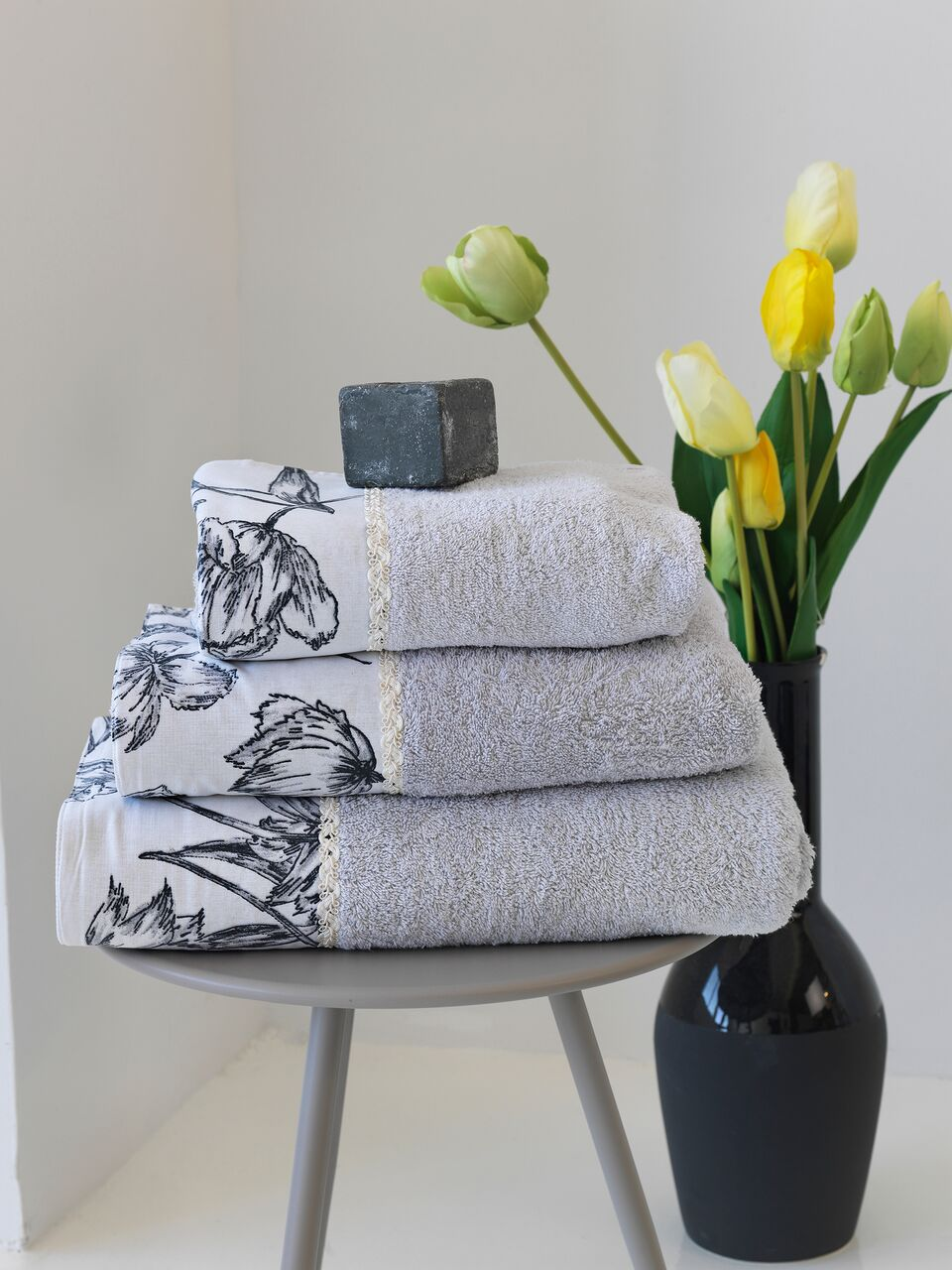 Σετ πετσέτες 3τμχ Ianthi Sb home - Sb home - ianthi-petseta λευκα ειδη mπάνιο πετσέτες μπάνιου