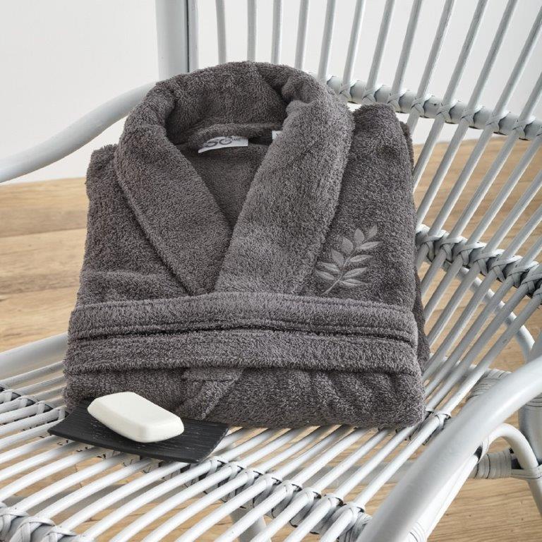 Μπουρνούζι Primus Carbon Medium - Sb home - primus-bathrobe-carbon-M λευκα ειδη mπάνιο μπουρνούζια