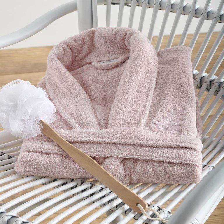 Μπουρνούζι Primus Pink Medium - Sb home - primus-bathrobe-pink-M λευκα ειδη mπάνιο μπουρνούζια