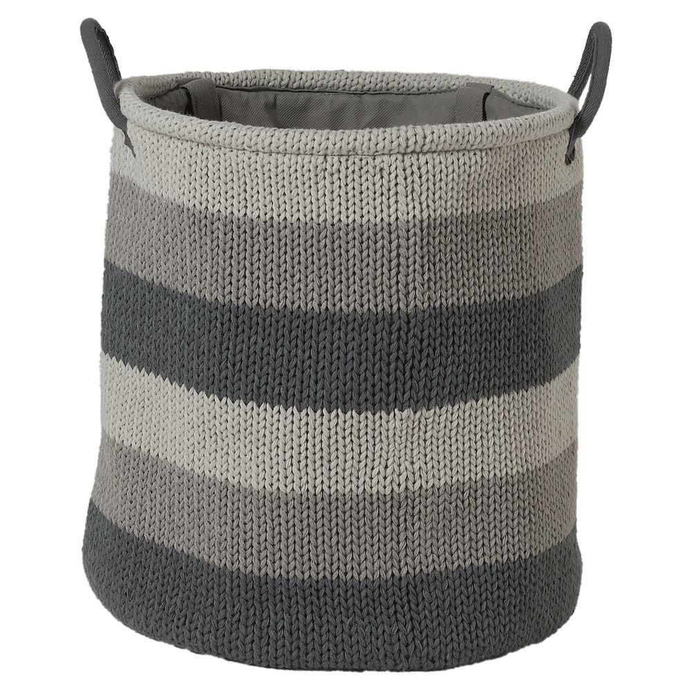 Καλάθι Απλύτων Υφασμάτινο «Knitted Grey» 36×38εκ. sealskin 361972012 – sealskin – 361972012