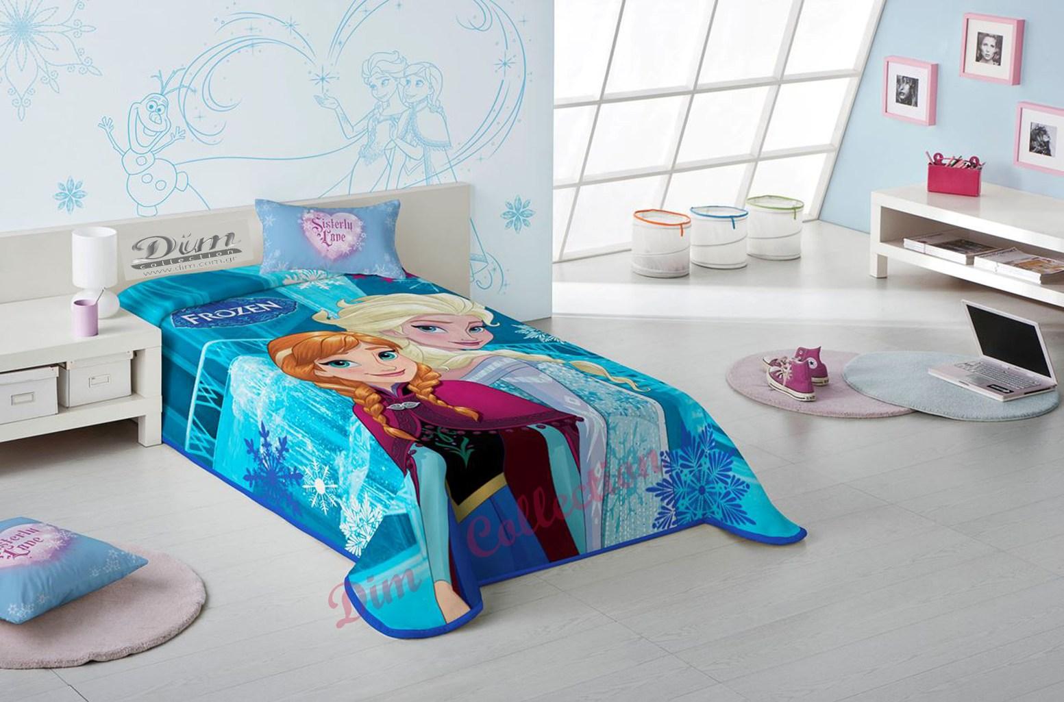 Κουβέρτα Μονή Παιδική Βελουτέ Frozen Dim Collection - Disney - frozen-blanket-di λευκα ειδη παιδί κουβέρτες παιδικές