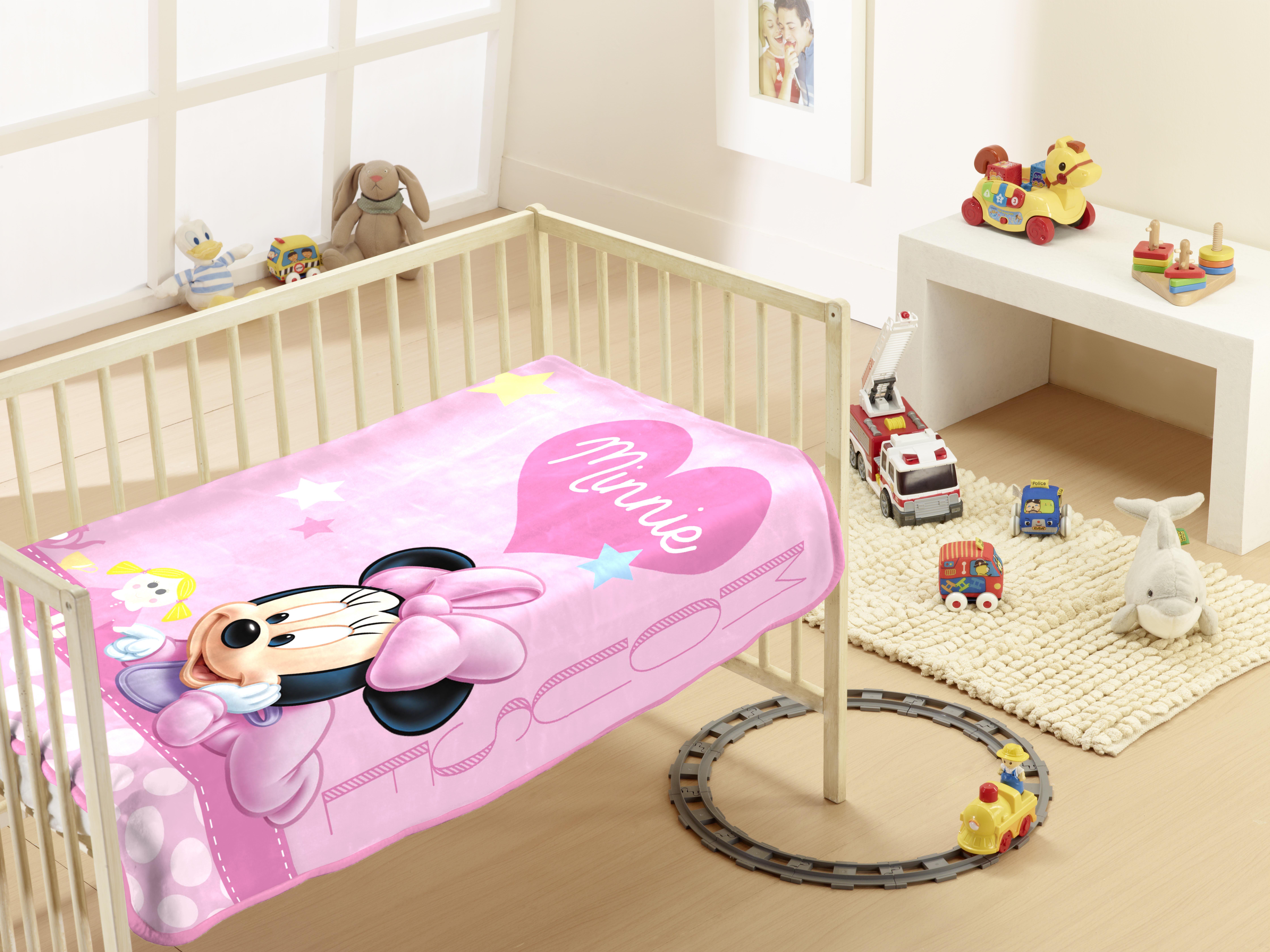 Κουβέρτα Μπεμπέ Βελουτέ Minie 9 Dim Collection – Disney – minnie-9-bl-dim