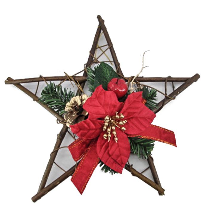 Χριστουεγγνιάτικο Αστέρι Κόκκινο Ξύλινο - OEM - 93.1399 χριστουγεννιατικα μπάλες   στολίδια