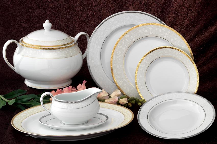 Σερβίτσιο Πορσελάνης Πλατίνα - AB - 6-242-72 κουζινα πιάτα   σερβίτσια