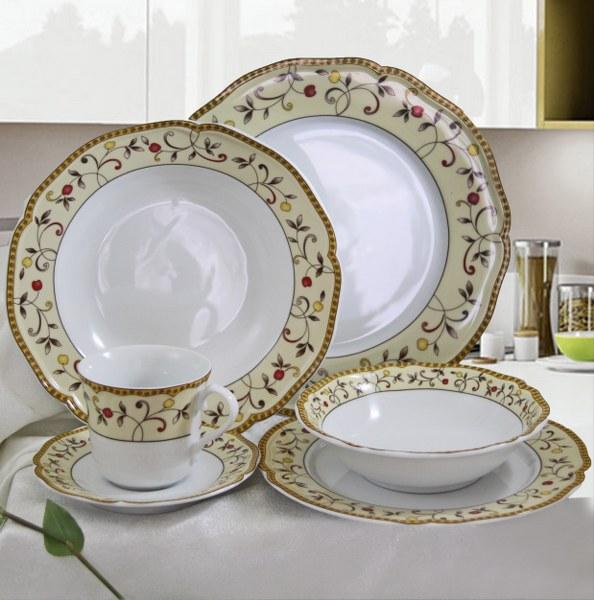 Σερβίτσιο Πορσελάνης 20 Τεμαχίων - AB - 6-803-20 κουζινα πιάτα   σερβίτσια