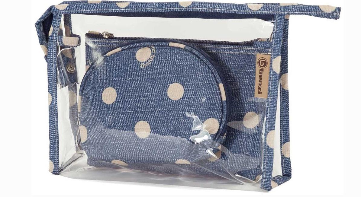 Νεσεσέρ Σετ 3τμχ benzi 5063 Blue - benzi - 5063-blue καλοκαιρινα βαλίτσες   τσάντες ταξιδίου