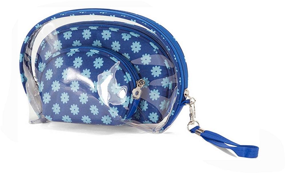 Νεσεσέρ Σετ 3τμχ benzi 5081 Blue Flower - benzi - 5081-blue-flower καλοκαιρινα βαλίτσες   τσάντες ταξιδίου