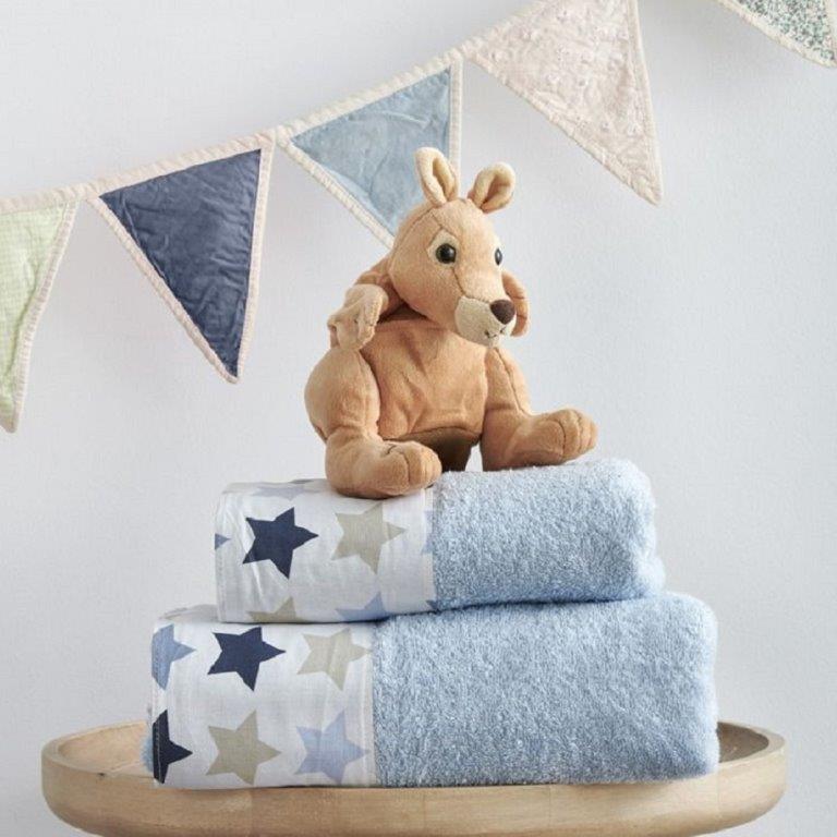 Σετ Πετσέτες Bebe Baby Stars Blue Sb home - Sb home - 5206864041905 λευκα ειδη παιδί πετσέτες