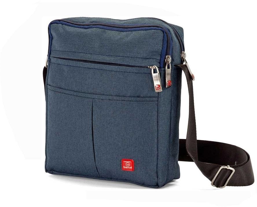 Τσαντάκι Ώμου 15x22x7εκ. benzi 5108 Blue - benzi - 5108-blue ειδη οικ  χρησησ βαλίτσες   τσάντες ταξιδίου