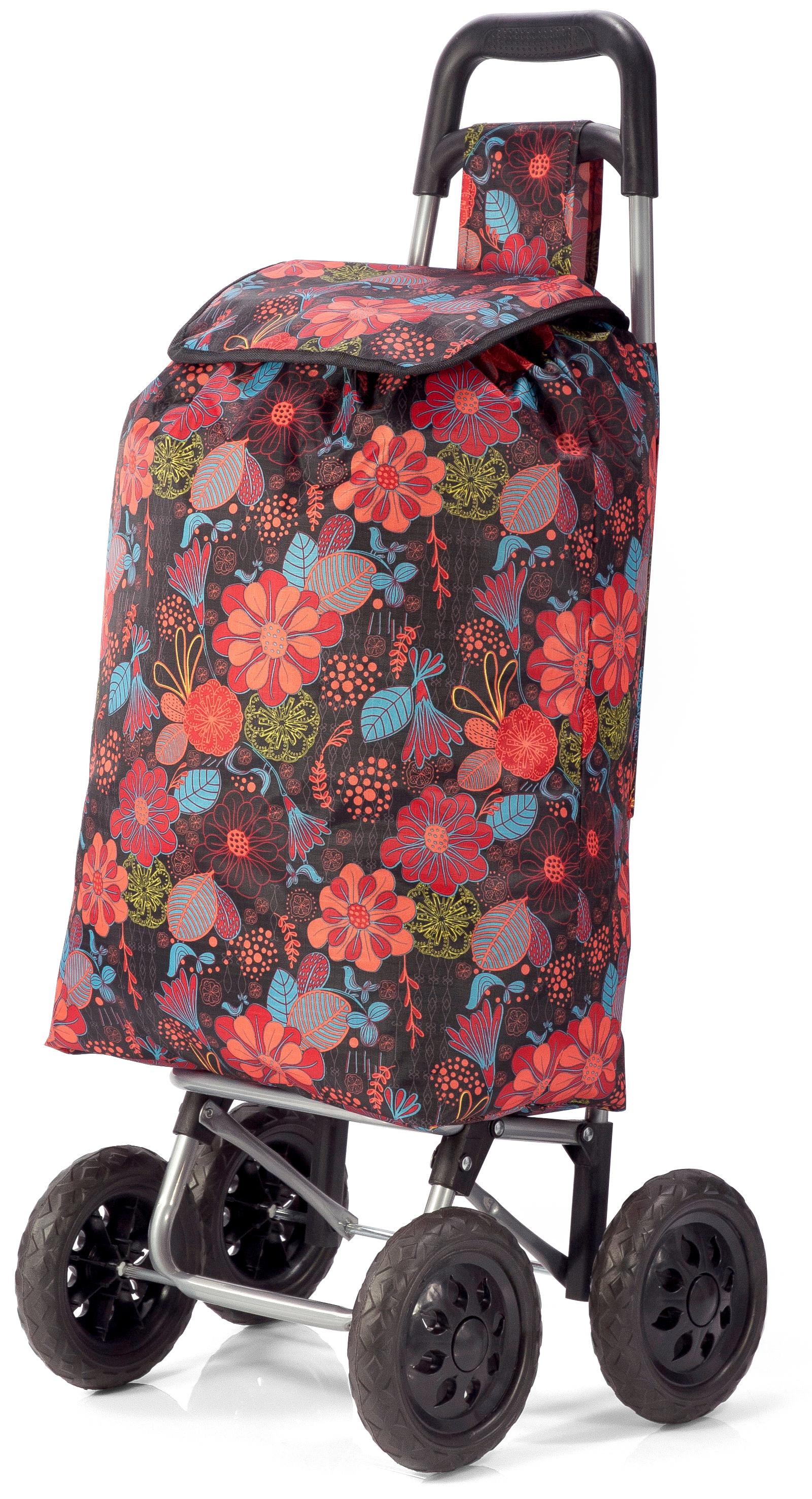 Καρότσι Λαϊκής Με Λουλούδια benzi 5049 – benzi – BZ-5049-BROWN