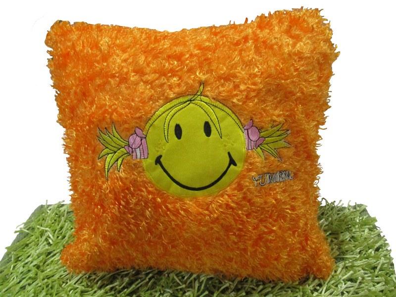 Διακοσμητική Μαξιλαροθήκη 45×45εκ. Happy Face Orange – OEM – happy-face-orange