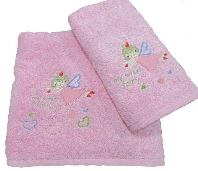 Πετσέτες Bebe Σετ 2τμχ Βαμβακερές Le Blanc Fairy Pink (Ύφασμα: Βαμβάκι 100%, Χρώμα: Ροζ) – Le Blanc – fairy-pink