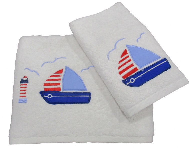 Πετσέτες Bebe Σετ 2τμχ Βαμβακερές Le Blanc Boat White (Ύφασμα: Βαμβάκι 100%, Χρώμα: Λευκό) – Le Blanc – boat-white