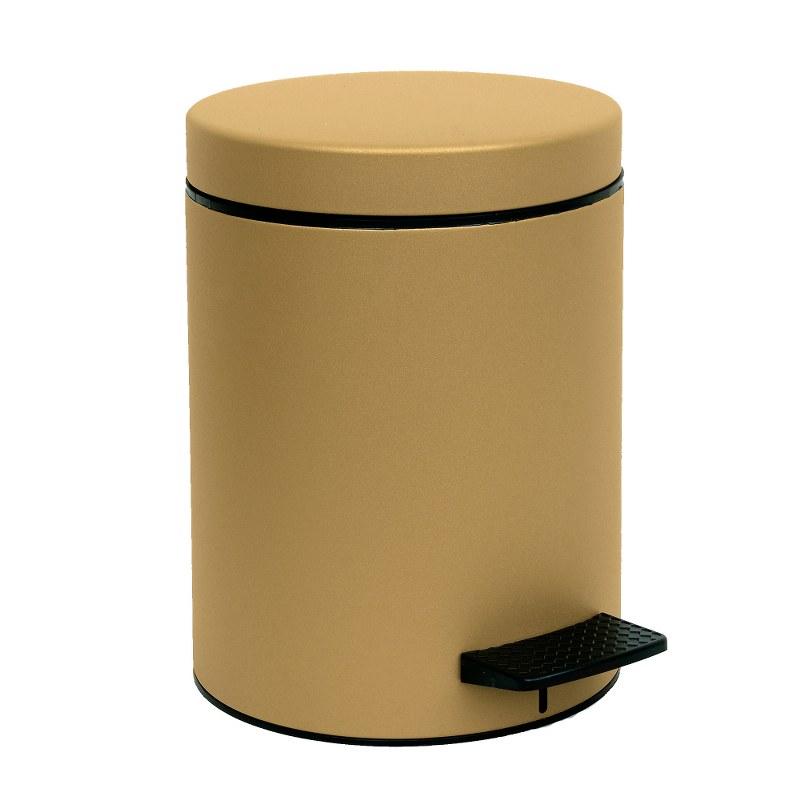 Καλάθι Απορριμμάτων 5lit Pam & Co 20×28εκ. 05-096-173 Gold Satine – Pam & Co – 05-096-173