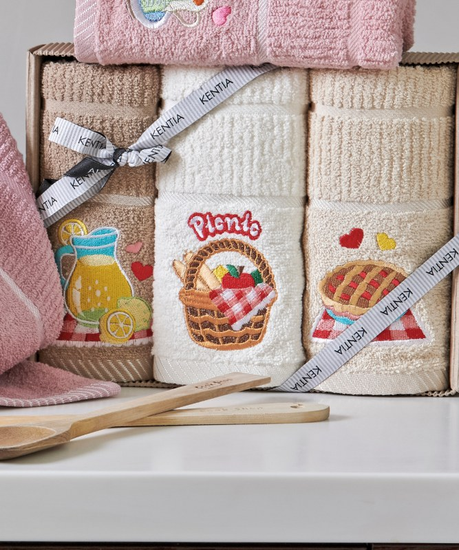 Σετ 3τμχ Πετσέτες Κουζίνας Regalo 181 Kitchen KENTIA - KENTIA - 5205133331341 λευκα ειδη κουζίνα πετσέτες κουζίνας