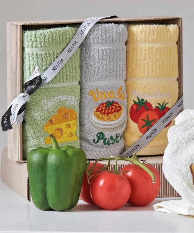 Σετ 3τμχ Πετσέτες Κουζίνας Regalo 183 Kitchen KENTIA – KENTIA – 5205133331365