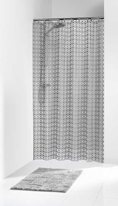 Κουρτίνα Πλαστική «Hammam Silver» Sealskin (180×200εκ.) – sealskin – 210861318